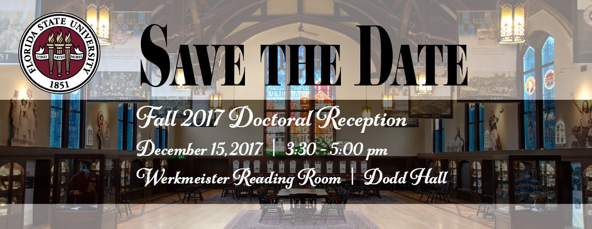 Fall 2017 Doctoral Reception