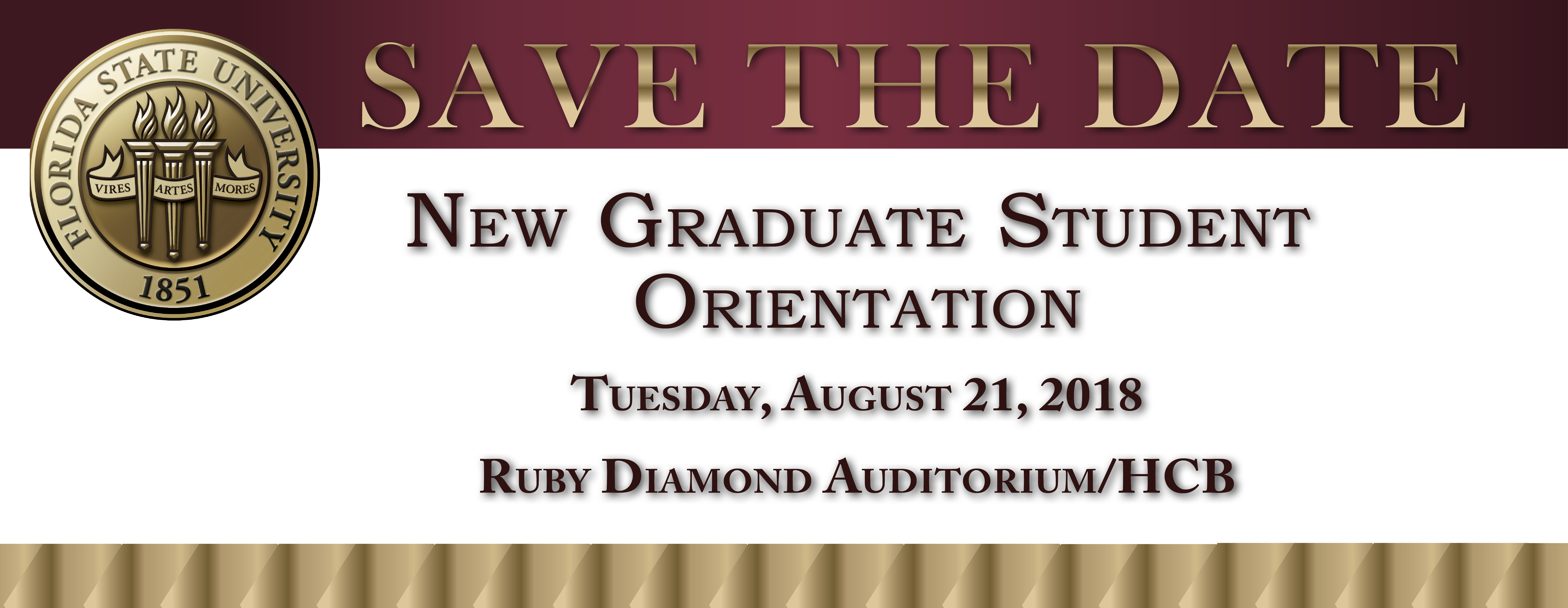 Banner for New Gradauate Student Orientation