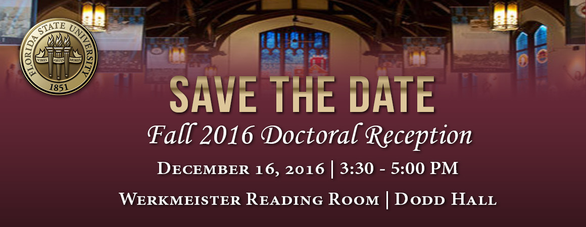 Fall 2016 Doctoral Reception